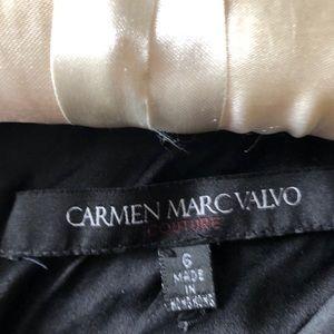 Carmen Marc Valvo Collection Black Tie Gown